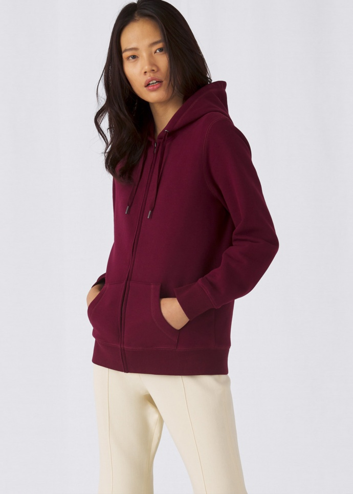 B&C QUEEN Zipped Hood