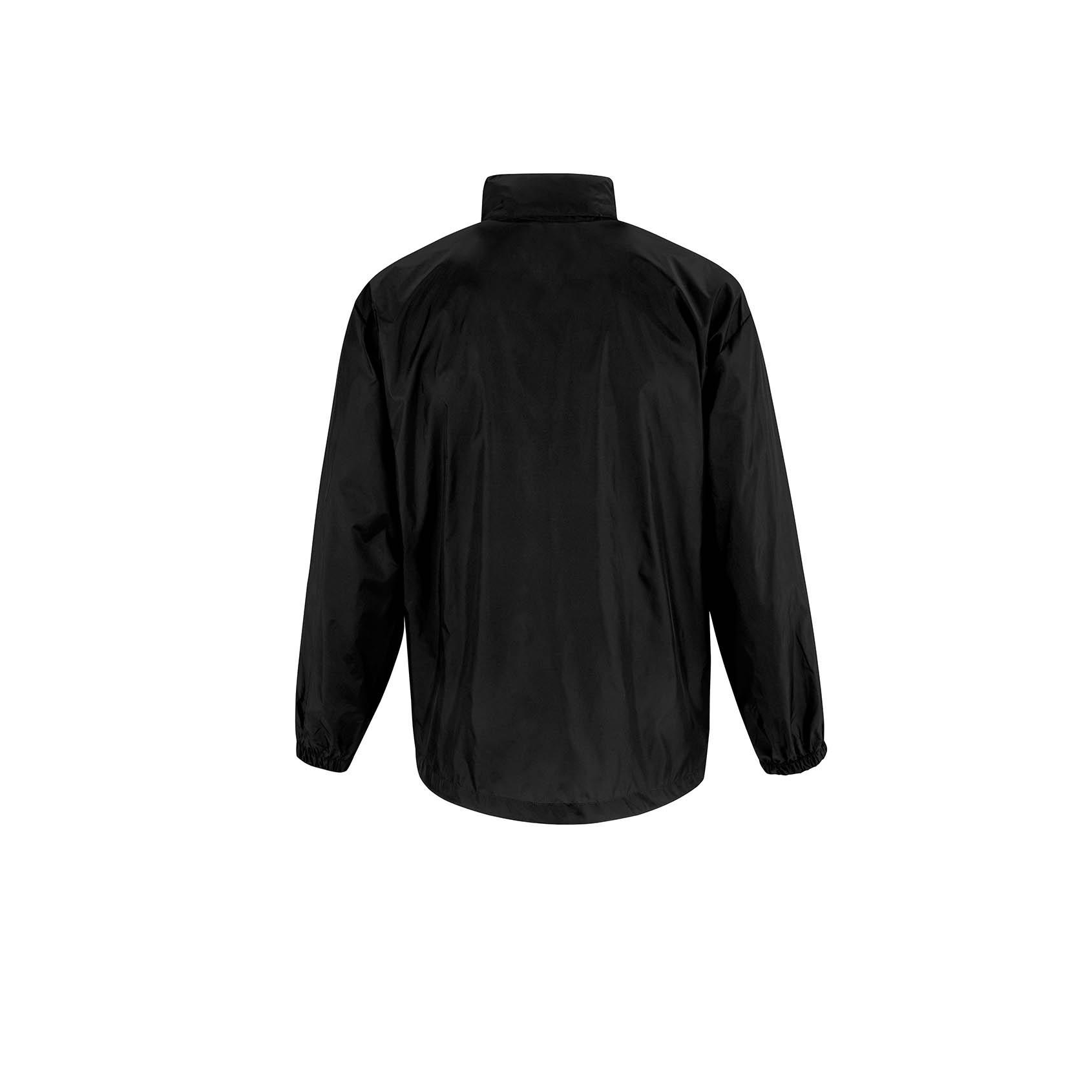 JU800 BLACK Mens Lightweight Windbreaker//Waterproof Jacket B/&C Sirocco