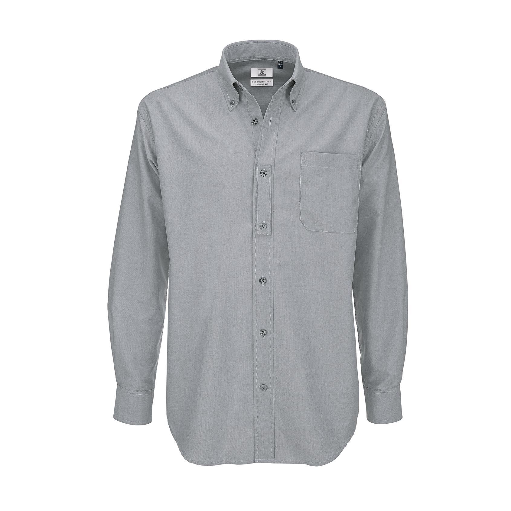 B/&C Mens Oxford Short Sleeve Shirt//Mens Shirts