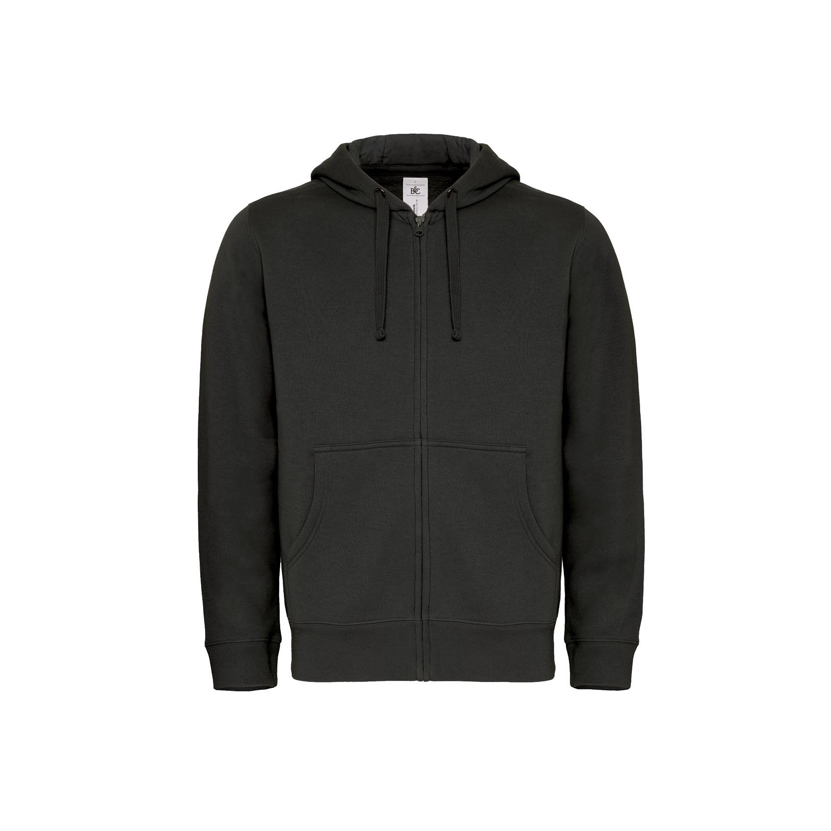 B/&C Collection Mens Fashion Hooded Full Zip Zipped Hoodie