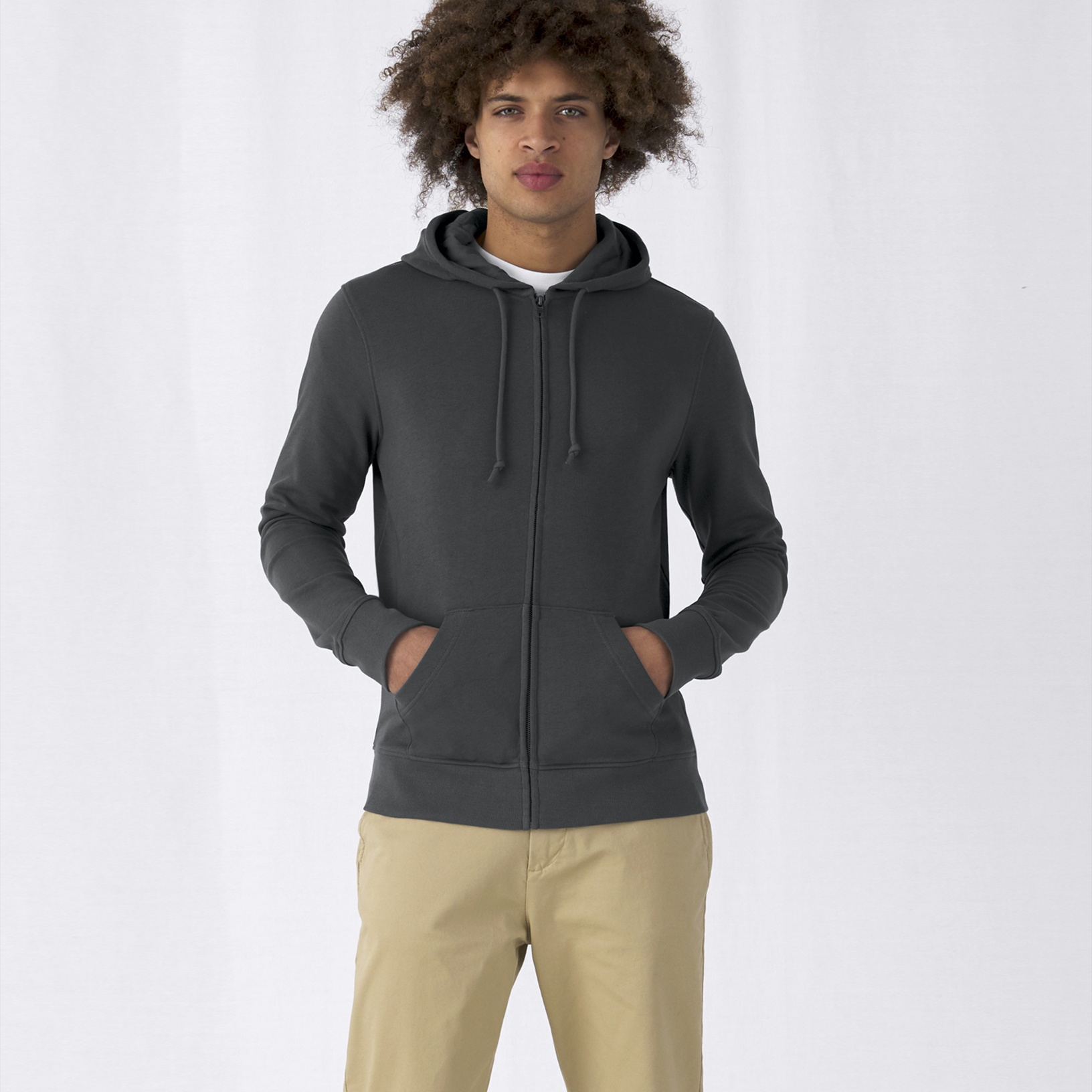 B&C Organic Zipped Hood | B&C Collection