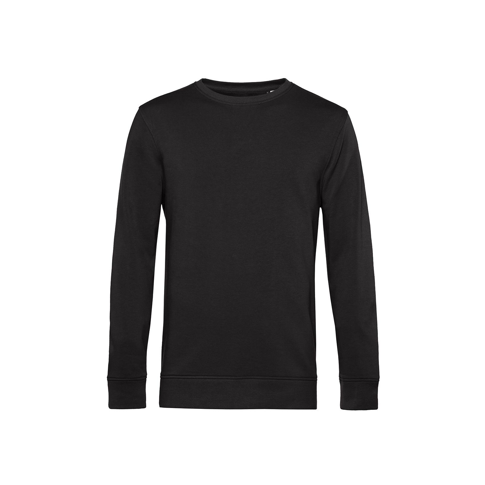 B/&C Mens Plain Open Hem Crew Neck Sweatshirt RW3510